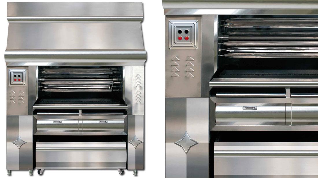 Asadores de pollo muebles de acero inoxidable cocinas for Hornos industriales bogota